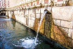 Fountain of the 99 Spouts  Fontana delle 99 cannelle, L Aquila Royalty Free Stock Photography