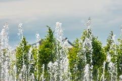 Fountain spray summer Stock Photos