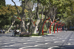 Fountain square in Baku. Azerbaijan Royalty Free Stock Photo