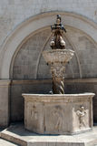 Fountain on the Square in Dubrovnik Stock Photography