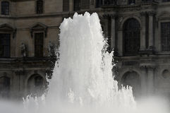 Fountain in the square in front of the Louvre Stock Photo