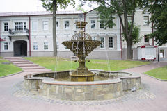The fountain in the square of Mayakovsky Royalty Free Stock Photography