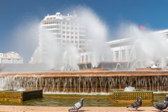 The fountain in the square of Mohammed V. Casablanca, Morocco Stock Image