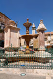 Fountain in the square Muristan in Jerusalem, Israel Royalty Free Stock Images