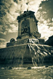 Fountain square in Paris. France. monochrome image Royalty Free Stock Images