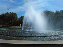 Fountain in the square stock photography