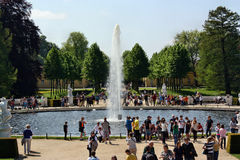The fountain in the square Schloss Sanssouci Stock Photo