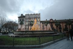 Fountain. In the square in Seville Royalty Free Stock Photography