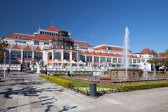 The fountain on square in Sopot. Stock Images