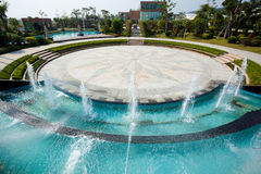 Fountain squares. Beautiful fountain squares and garden in China Royalty Free Stock Images