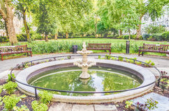 Fountain in St George's Square, London Stock Image