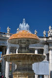 Fountain in St Peter's Square, Rome. The Fountain in St Peter's Square, Rome Stock Image