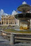 Fountain in St. Peter's Square at the Vatican, Rome, Italy Stock Image