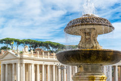 Fountain in St. Peter's Square at the Vatican, Rome stock photography