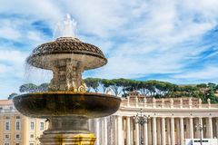 Fountain in St. Peter's Square at the Vatican, Rome Stock Photos