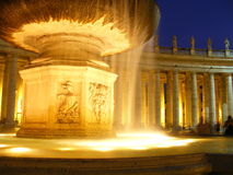 Fountain. St Peters basilica, Vatican City Royalty Free Stock Photography