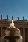 Fountain, St Peters Square Vatican Stock Images