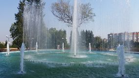 Fountain in  Stara Zagora. Fountain in my town stara zagora Royalty Free Stock Photo