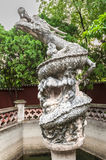Fountain with a statue of a dragon Royalty Free Stock Images
