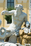Fountain statue in front of Schönbrunn palace Vienna Stock Photos