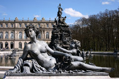 Fountain statue at Herrenchiemsee Royalty Free Stock Image