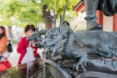 Fountain Statue in Sensoji Temple, Asakusa, Tokyo Royalty Free Stock Photo