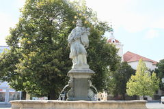 Fountain with statue Royalty Free Stock Photography