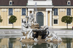 Fountain with statues Stock Photo