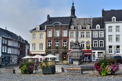 Fountain in Stavelot royalty free stock photography