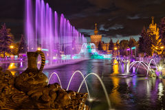 The fountain  Stone Flower on VDNKh. Stock Photography