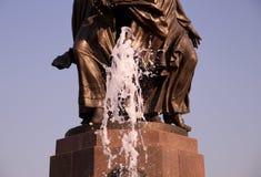 Fountain stream on the Volgograd embankment Stock Photography