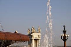 Fountain stream on the Volgograd embankment Stock Image