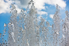 Fountain streams Stock Images