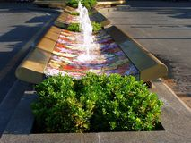 Fountain on the street in the capital town Beijing. China Stock Photo