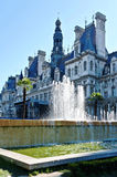 A fountain in the street of Paris. Royalty Free Stock Images