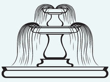 Fountain in the style of renaissance. Isolated on blue batskground Royalty Free Stock Image