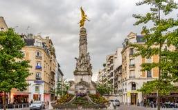 Fountain Sube in Reims Stock Photo