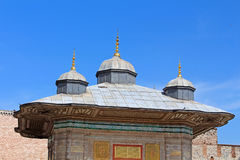 The Fountain of Sultan Ahmed III, Istanbul, Turkey royalty free stock image