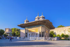 The fountain of Sultan Ahmed III Royalty Free Stock Photos