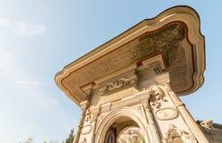 The Fountain of Sultan Ahmed III near Hagia Sophia, Istanbul. Royalty Free Stock Photography