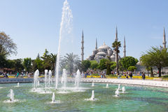 Fountain on Sultan Ahmet square Stock Photography