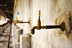 Fountain in Sultanahmet Mosque Stock Images