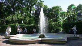Fountain in the summer garden, Saint-Petersburg, Russia. Cinemagraph seamless loop movie stock footage