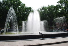 Fountain. Summer. A fountain is in a municipal park Stock Images