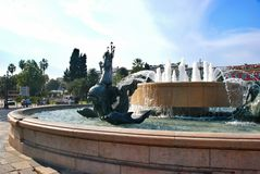 Fountain of the sun at Place Massena in Nice Royalty Free Stock Photos