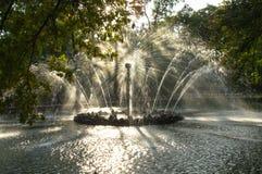 Fountain - the sun Royalty Free Stock Photos