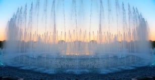 Fountain on sunset Stock Photo