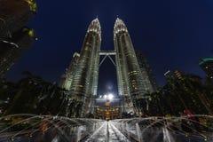 Fountain of Suria KLCC park at Kuala Lumpur Stock Photography