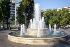 Fountain in Syntagma square in front of the Greek parliament Stock Image