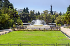 Fountain in Syntagma square in front of the Greek parliament Stock Images